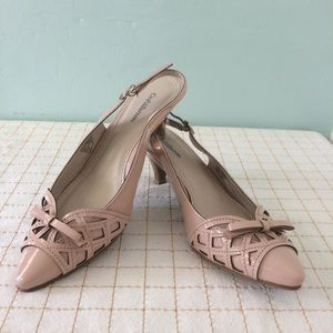 Croft & Barrow Pink Slingback Kitten Heels 6 1/2 M